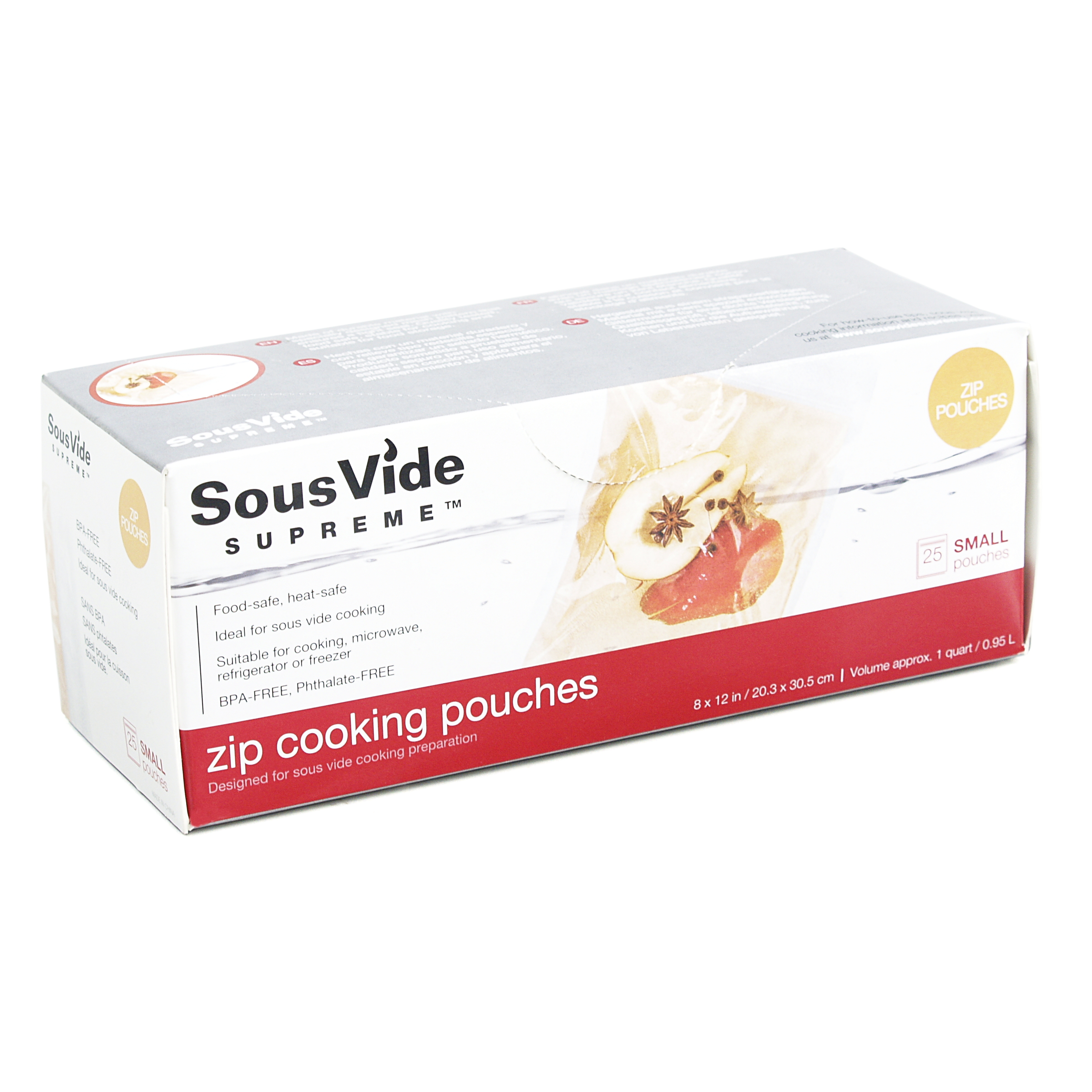 SousVide Supreme Small 1 Quart Zip Cooking Pouches