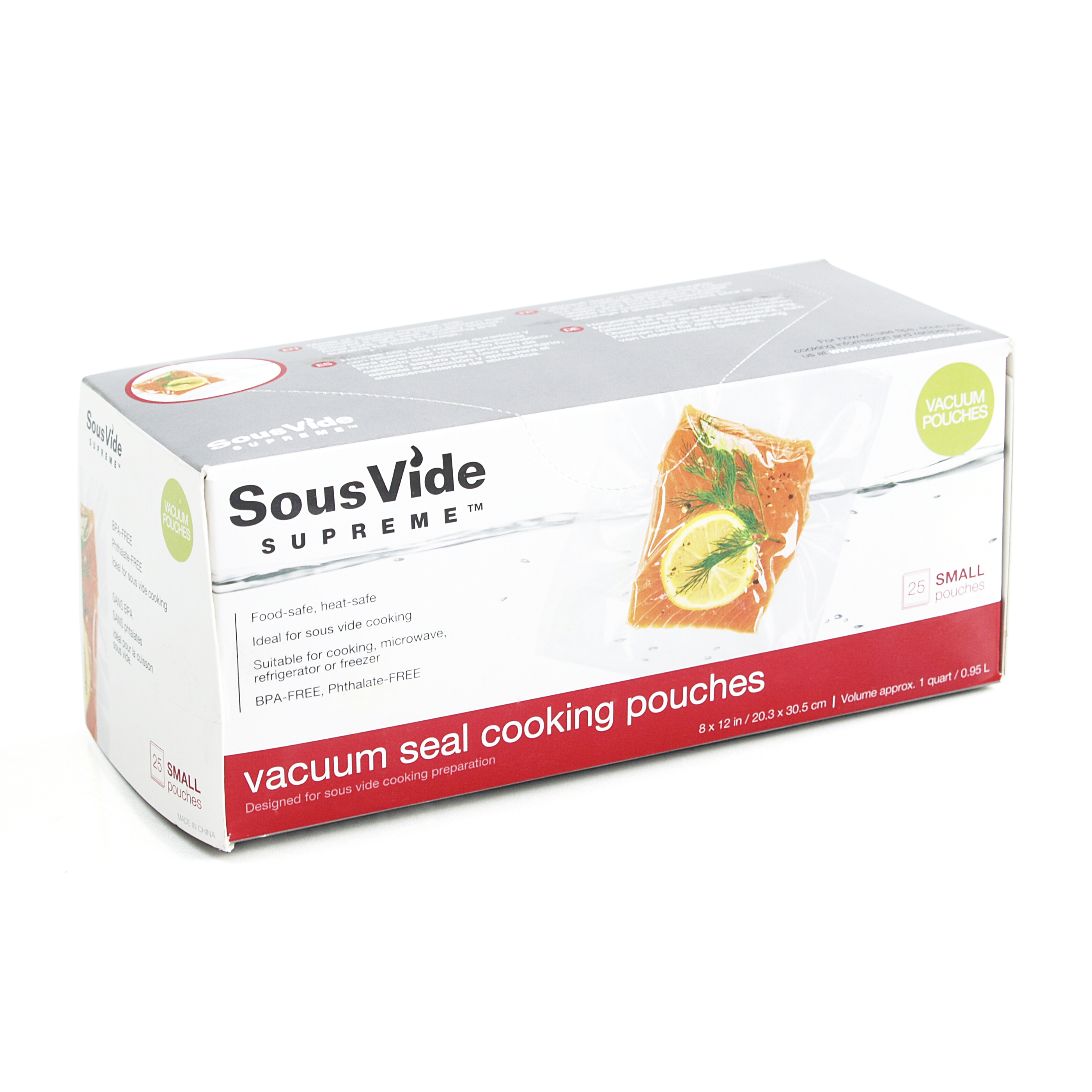 SousVide Supreme Small 1 Quart Vacuum Seal Cooking Pouches