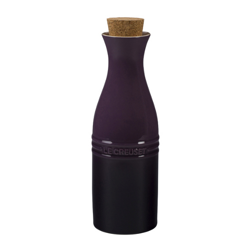 Le Creuset Cassis Stoneware Large 750 mL Carafe with Cork Stopper