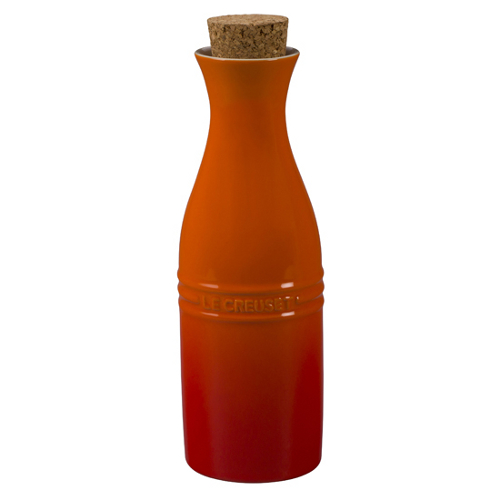 Le Creuset Flame Stoneware Large 750 mL Carafe with Cork Stopper