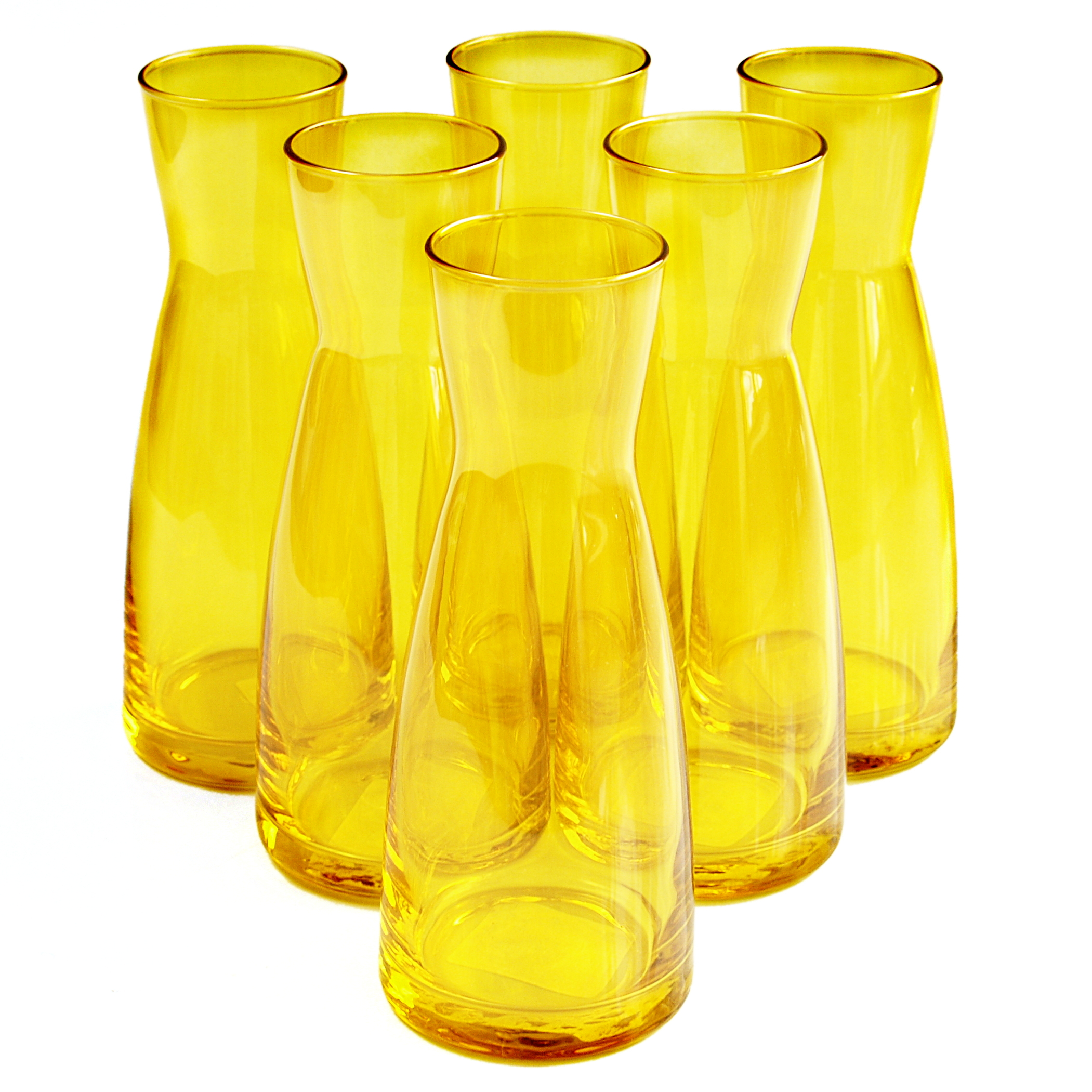 Bormioli Rocco Ypsilon Yellow Glass 18.5 Ounce Jug