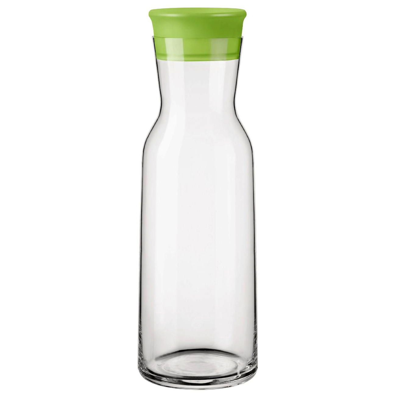 Bormioli Rocco Aquaria Glass 27.5 Ounce Jug With Green Lid