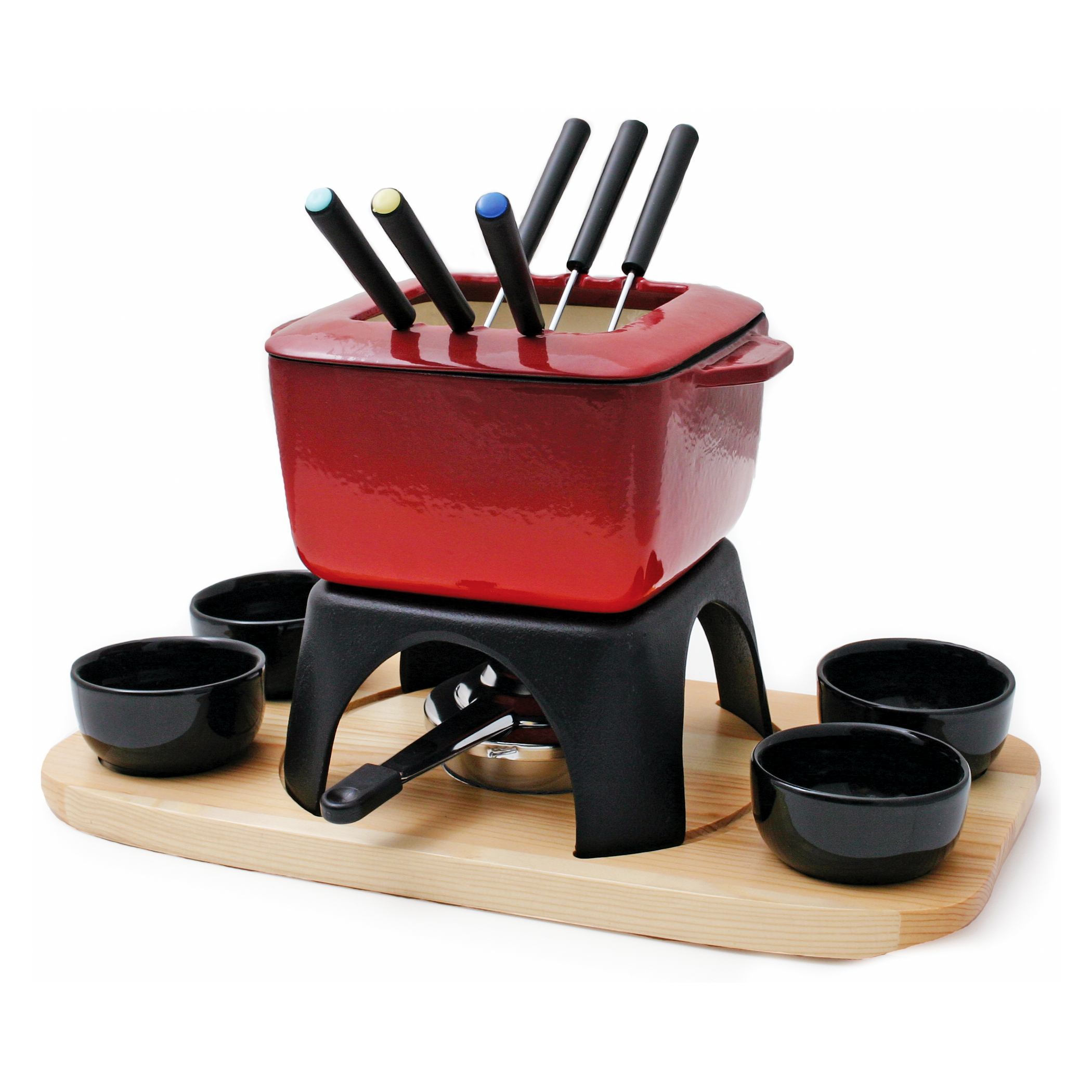 Swissmar Mont Blanc Red 15 Piece Fondue Set