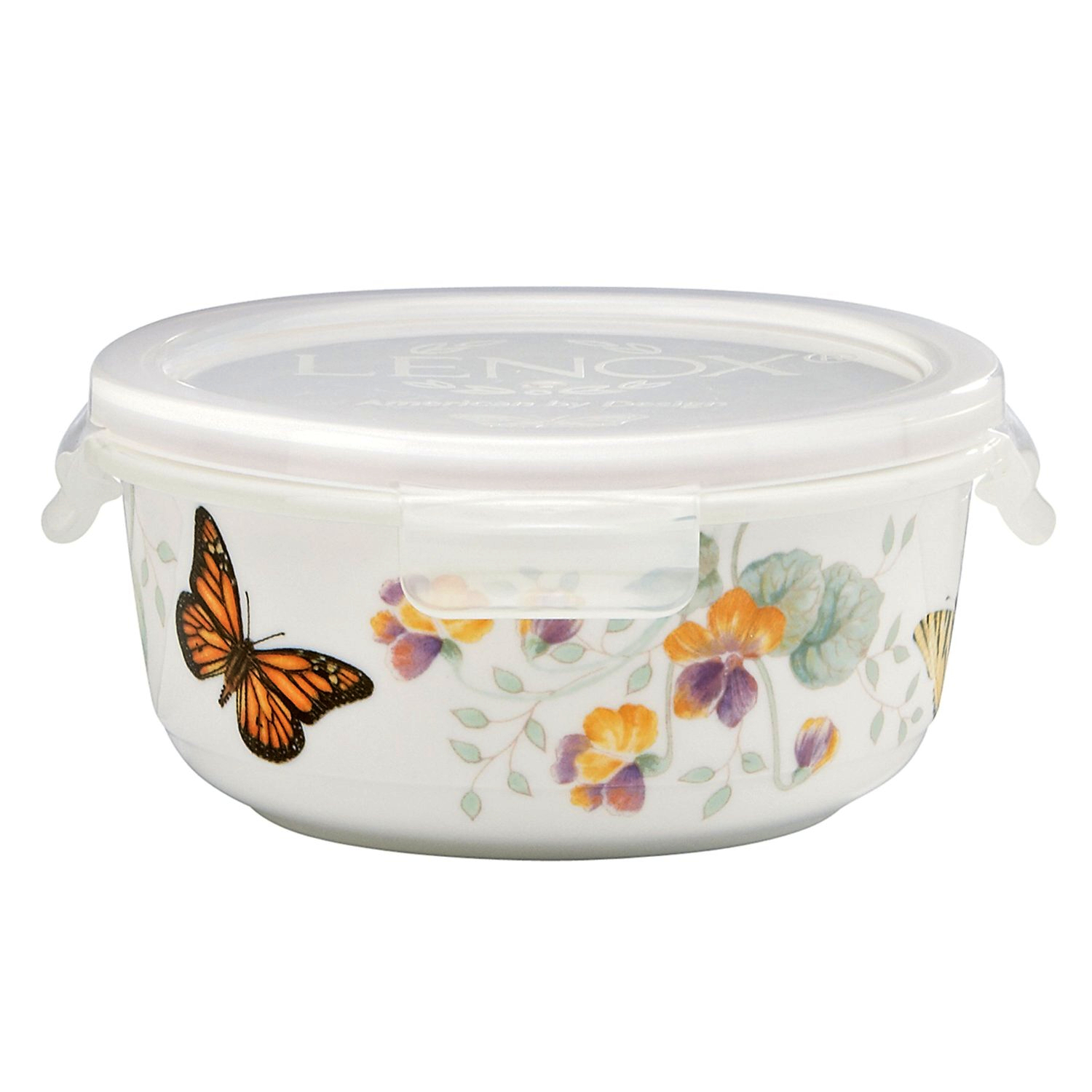 Lenox Butterfly Meadow 5.75 Inch Round Serve and Store Container
