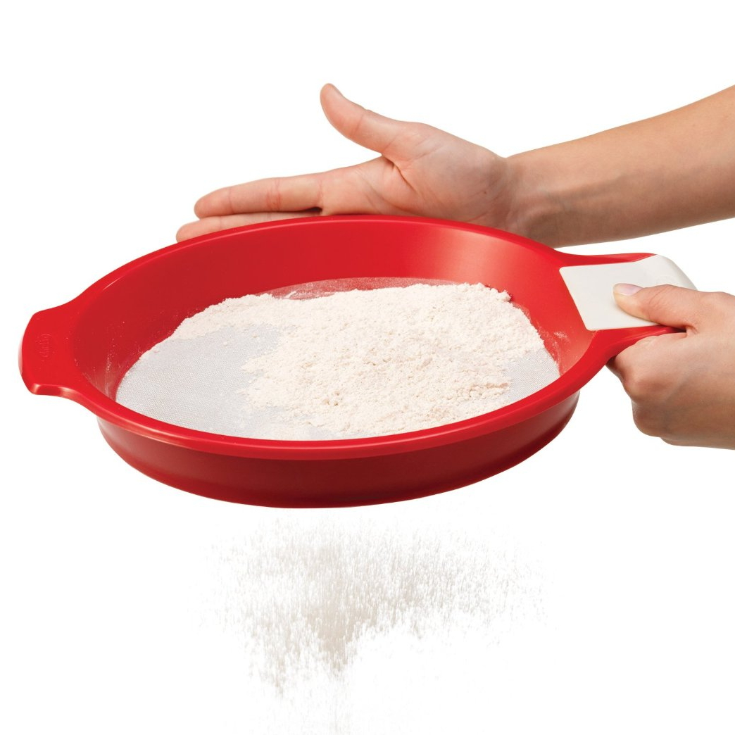 Sift'n Sieve™ Flour Sifter and Sieve - Cherry/Meringue