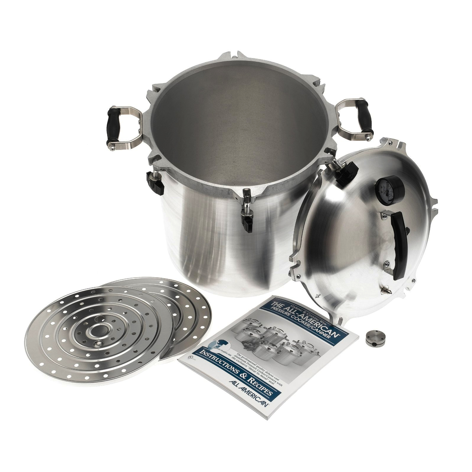 All American 30 Quart Metal Pressure Cooker and Canner