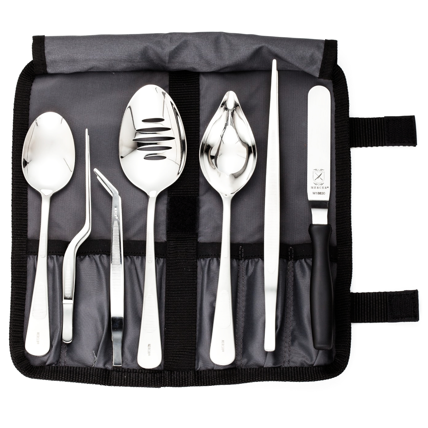 Mercer Stainless Steel 8 Piece Plating Kit with Storage Roll