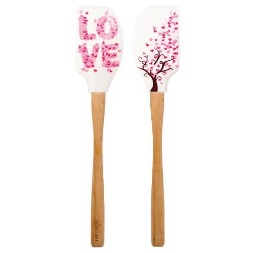 Tovolo Spatulart Love Tree Pink Silicone Spatula