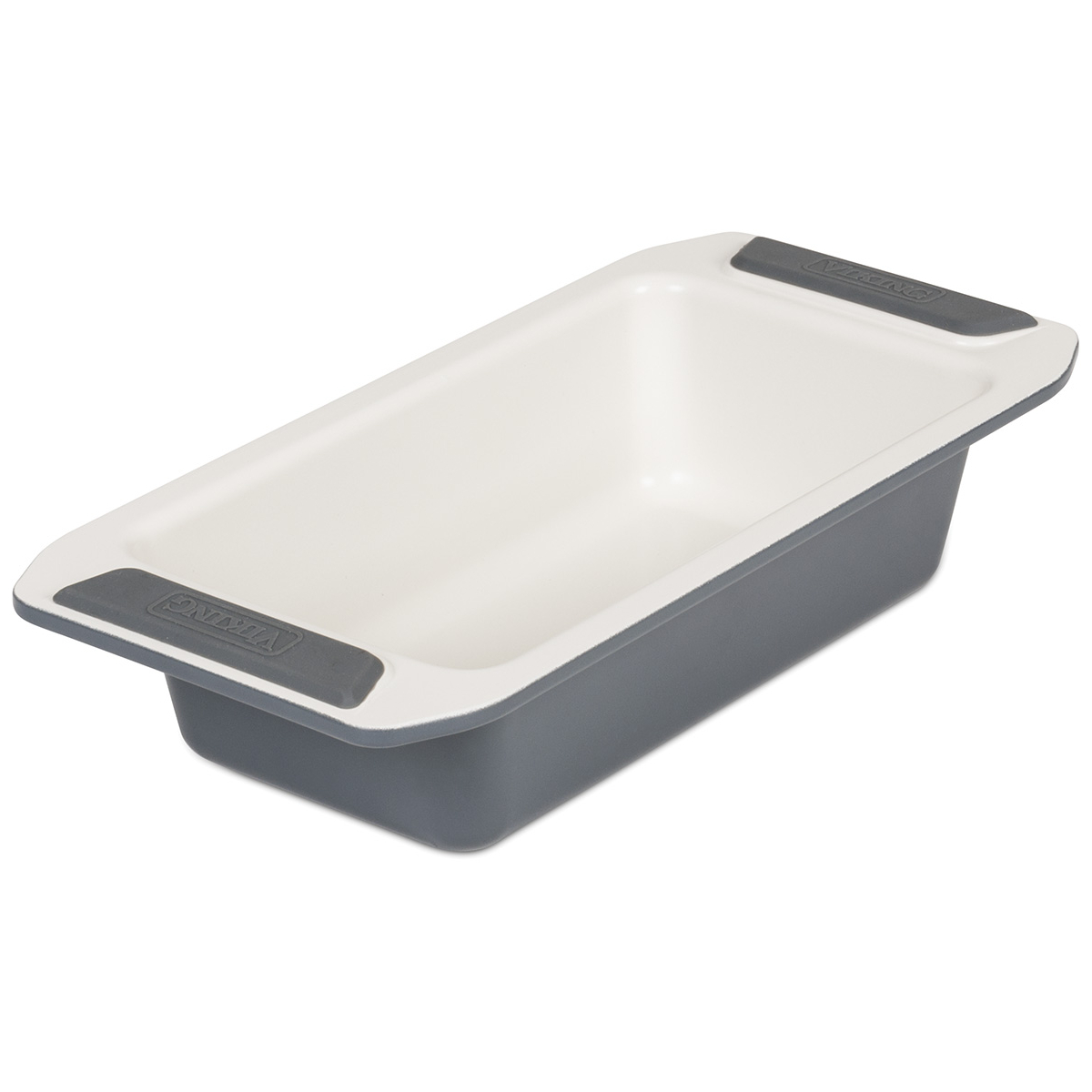 Viking Cream and Gray Coated Nonstick Ceramic 8 Inch Loaf Pan