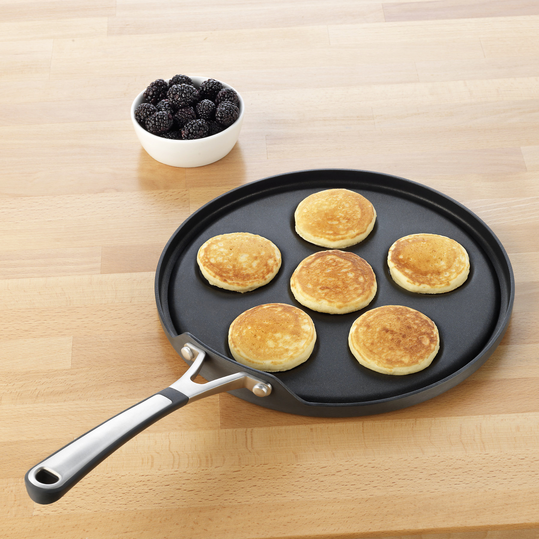 Simply Calphalon Hard Anodized Silver Dollar Pancake Pan