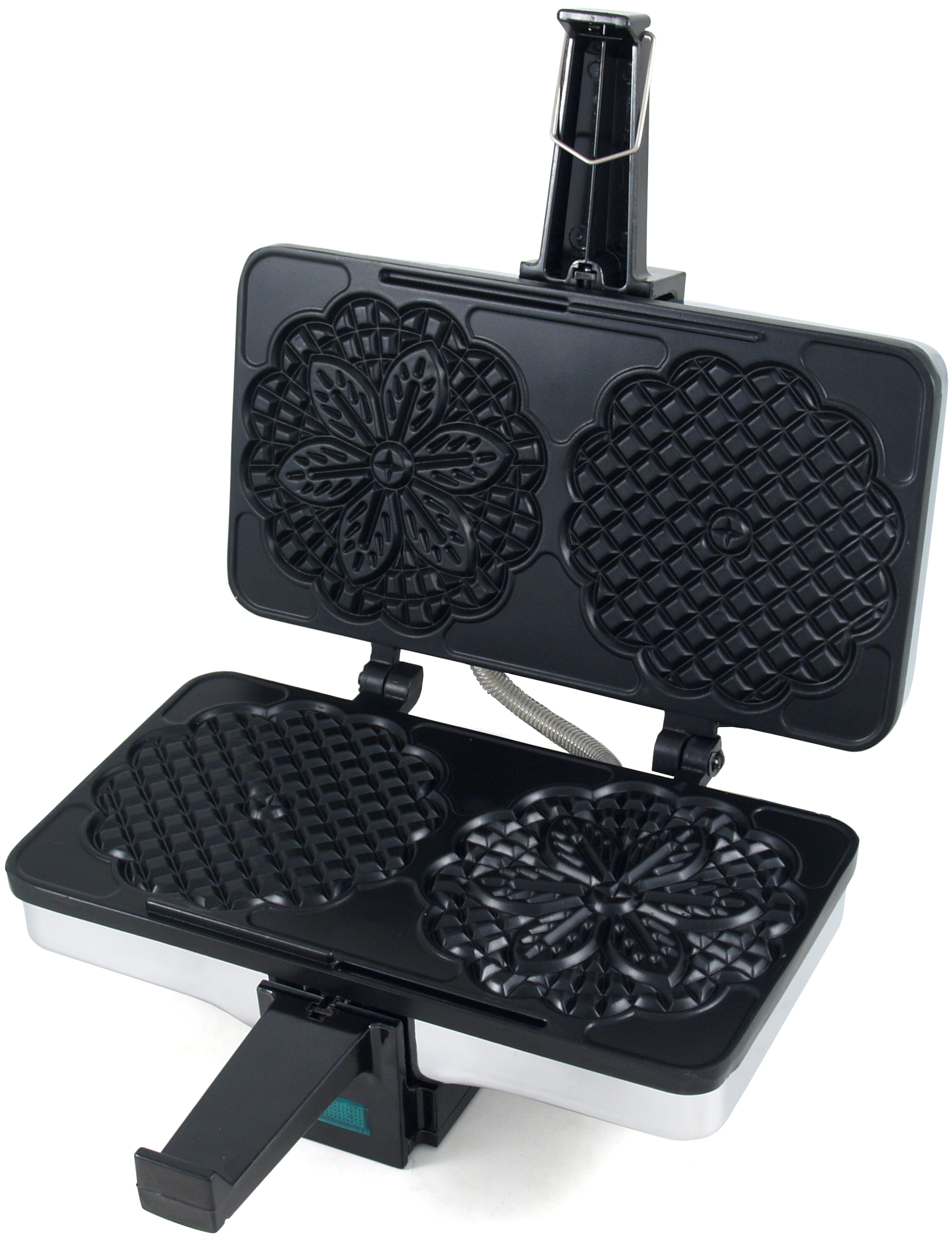 CucinaPro Silver Chrome Non-Stick Electric Pizzelle Baker