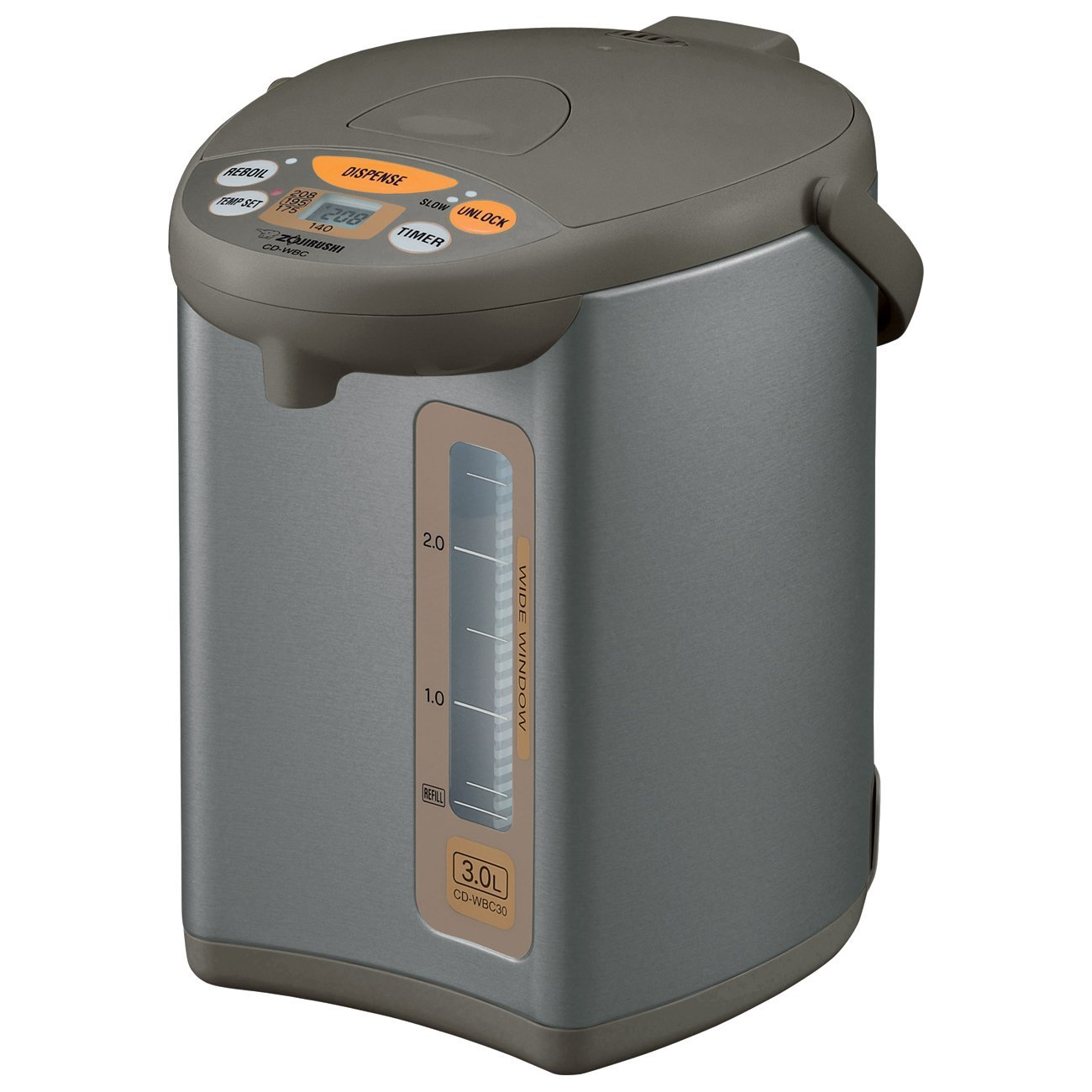 Zojirushi Micom Silver and Brown 3.1 Quart Water Boiler and Warmer