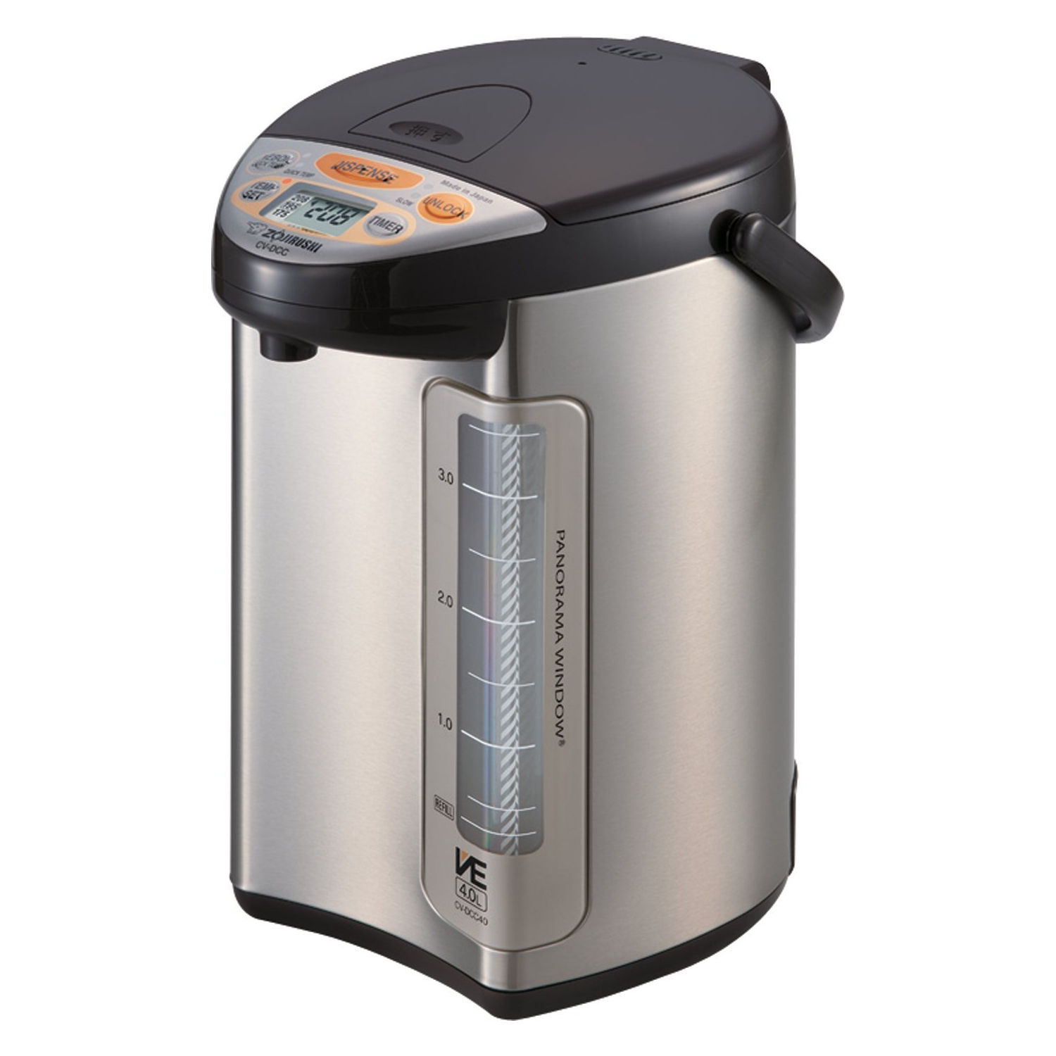 Zojirushi VE Hybrid Stainless Steel and Dark Brown 4 Liter Water Boiler and Warmer