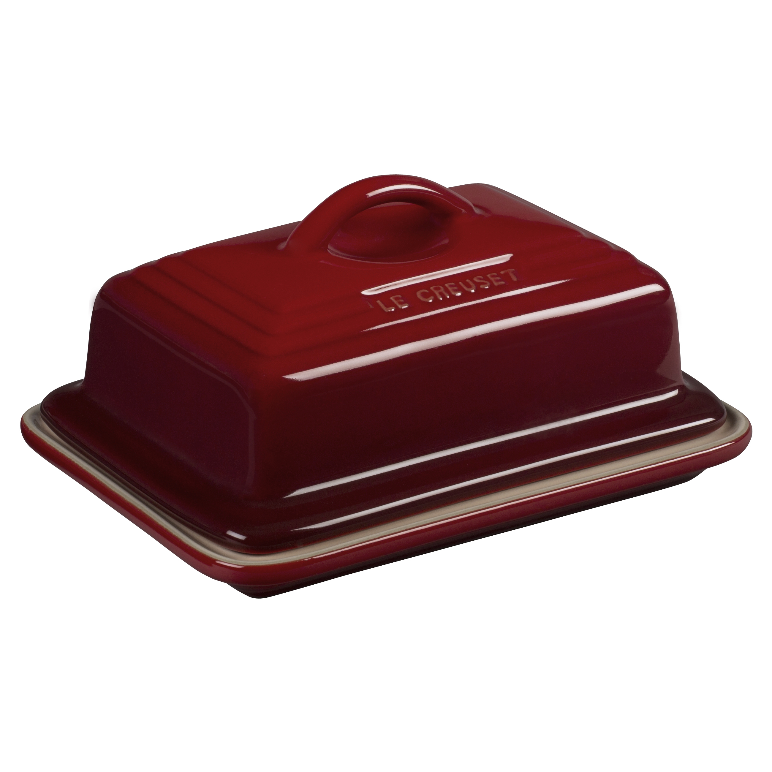 Le Creuset Heritage Cherry Stoneware Butter Dish