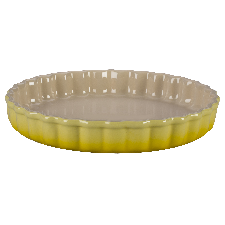 Le Creuset Soleil Yellow Stoneware 1.5 Quart Tart Dish