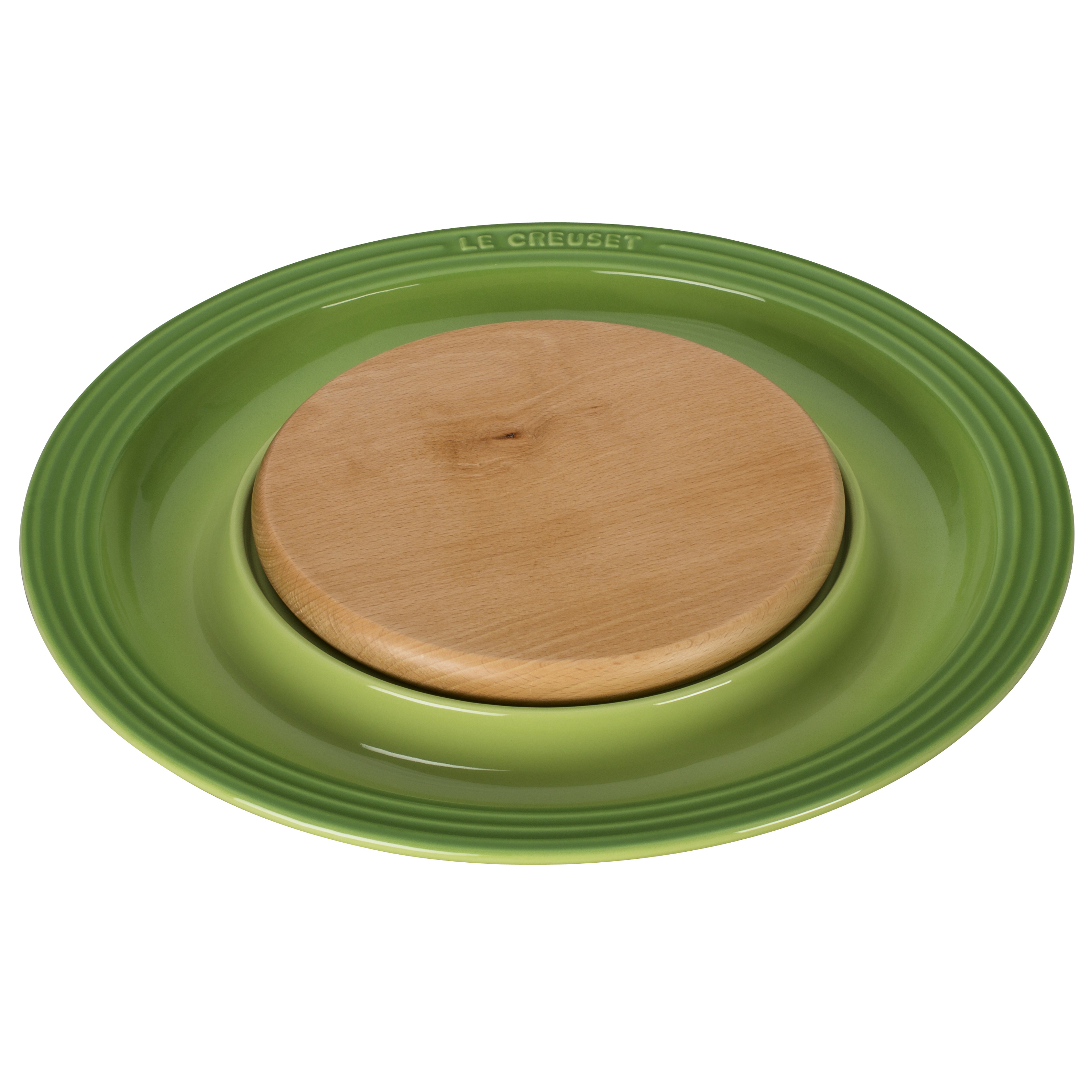 Le Creuset Palm Stoneware Cheese Server with Beechwood Cutting Board