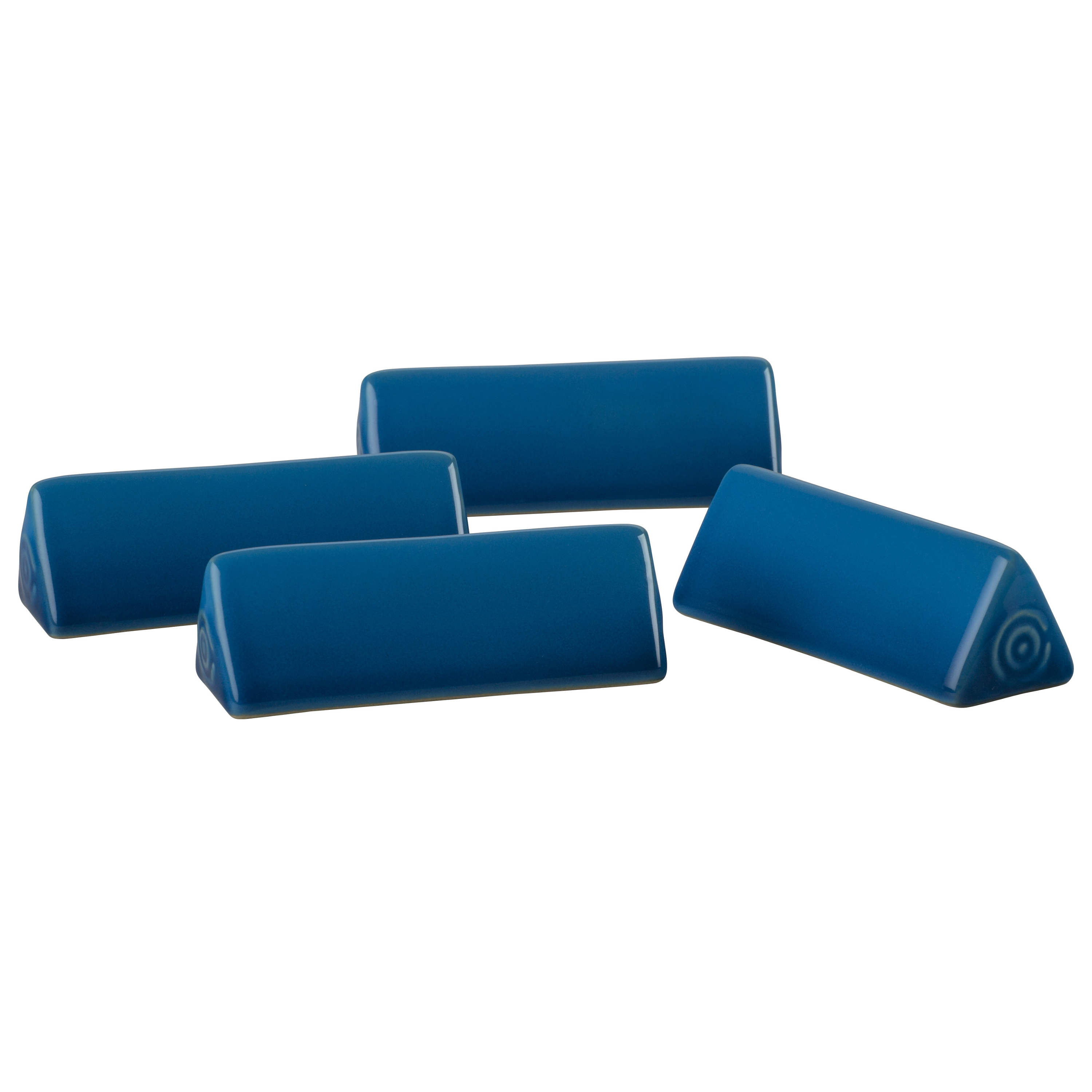 Le Creuset Marseille Blue Stoneware Cheese Marker, Set of 4