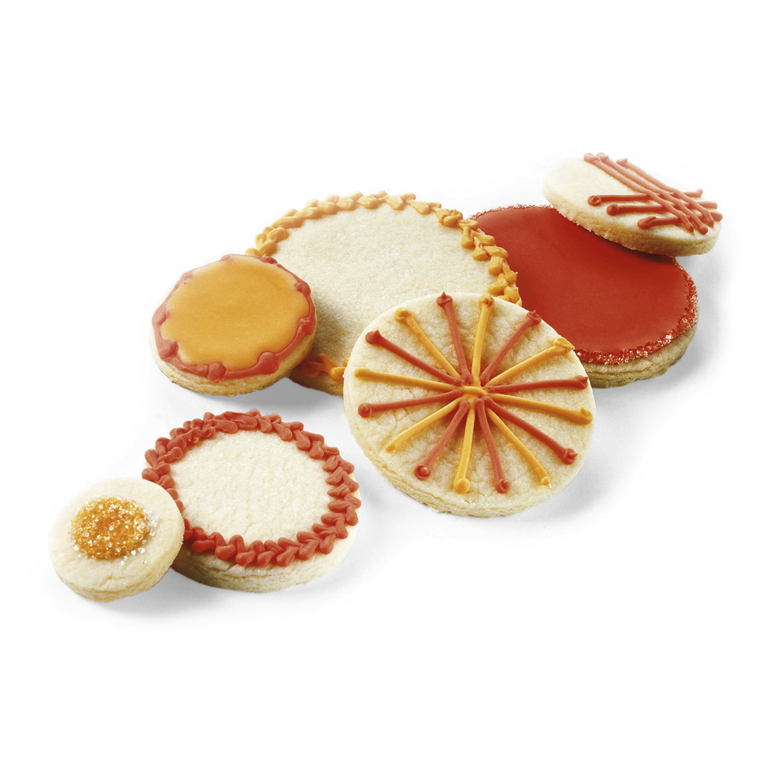 Cuisipro Snap-Fit Red Round Shapes Cookie Cutter Set