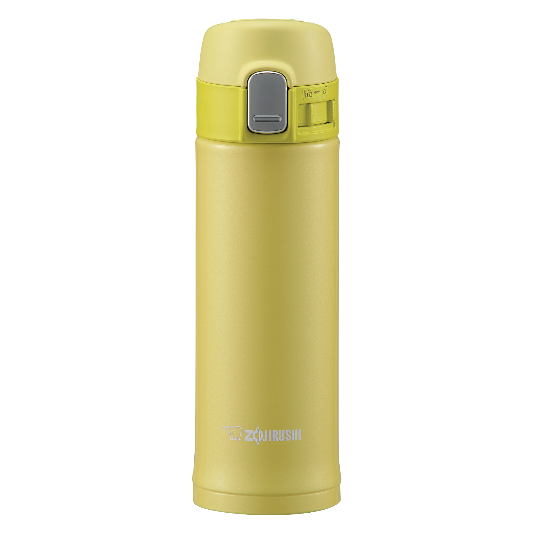 Zojirushi Lime Yellow Stainless Steel Vacuum Insulated 10 Ounce Mug