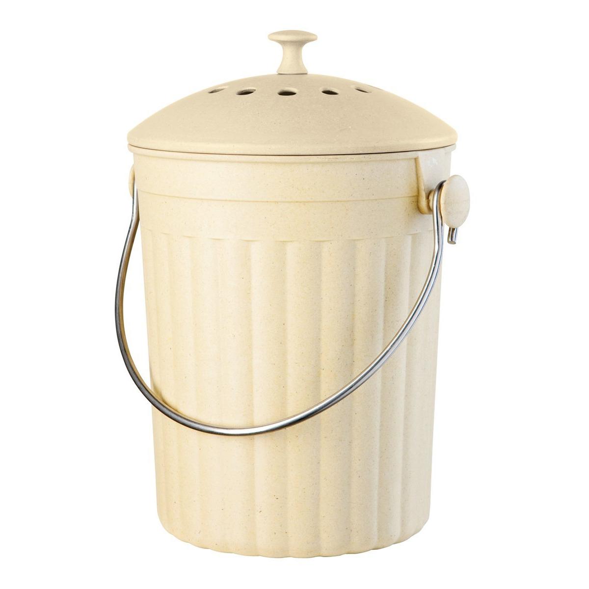 Oggi Eco-Friendly Countertop Bamboo 128 Ounce Compost Pail