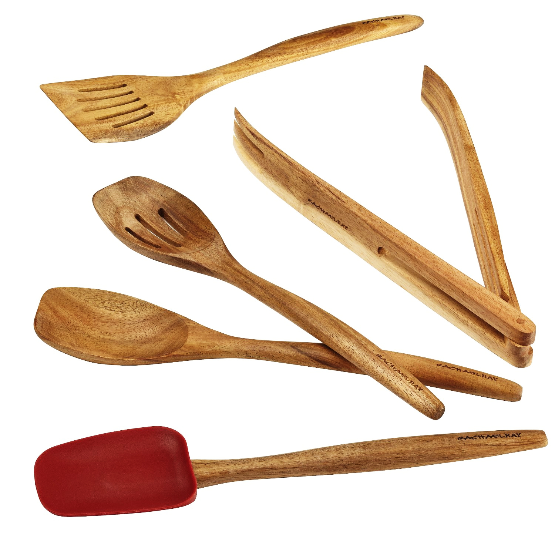 Rachel Ray Cucina 5 Piece Acacia Wood Tool Set