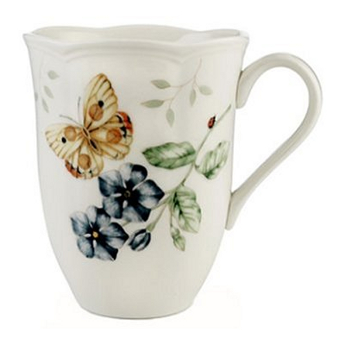 Lenox Butterfly Meadow Orange Sulphur 12 Ounce Mug