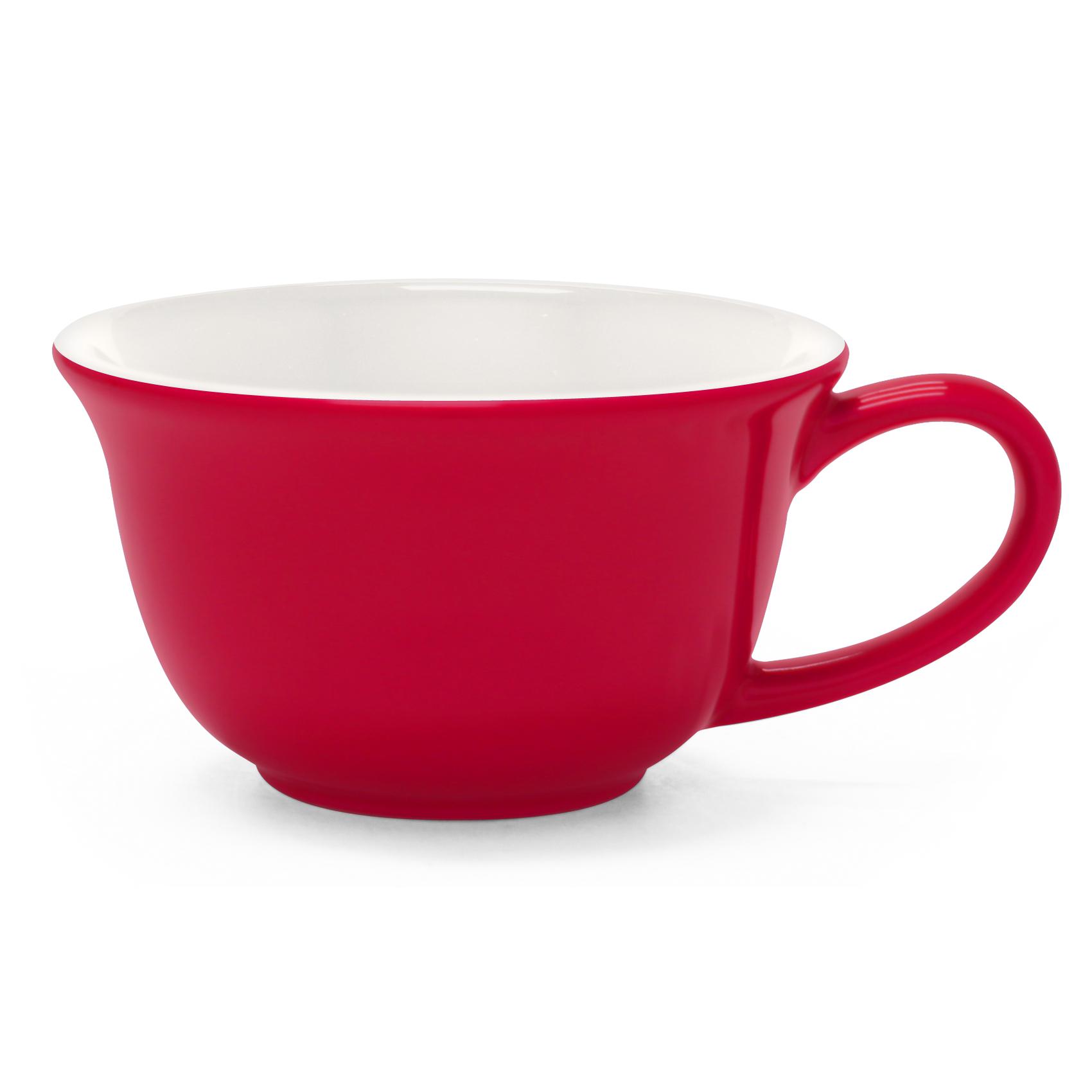 Chantal Red and White 8 Ounce Tea Lover's Mug