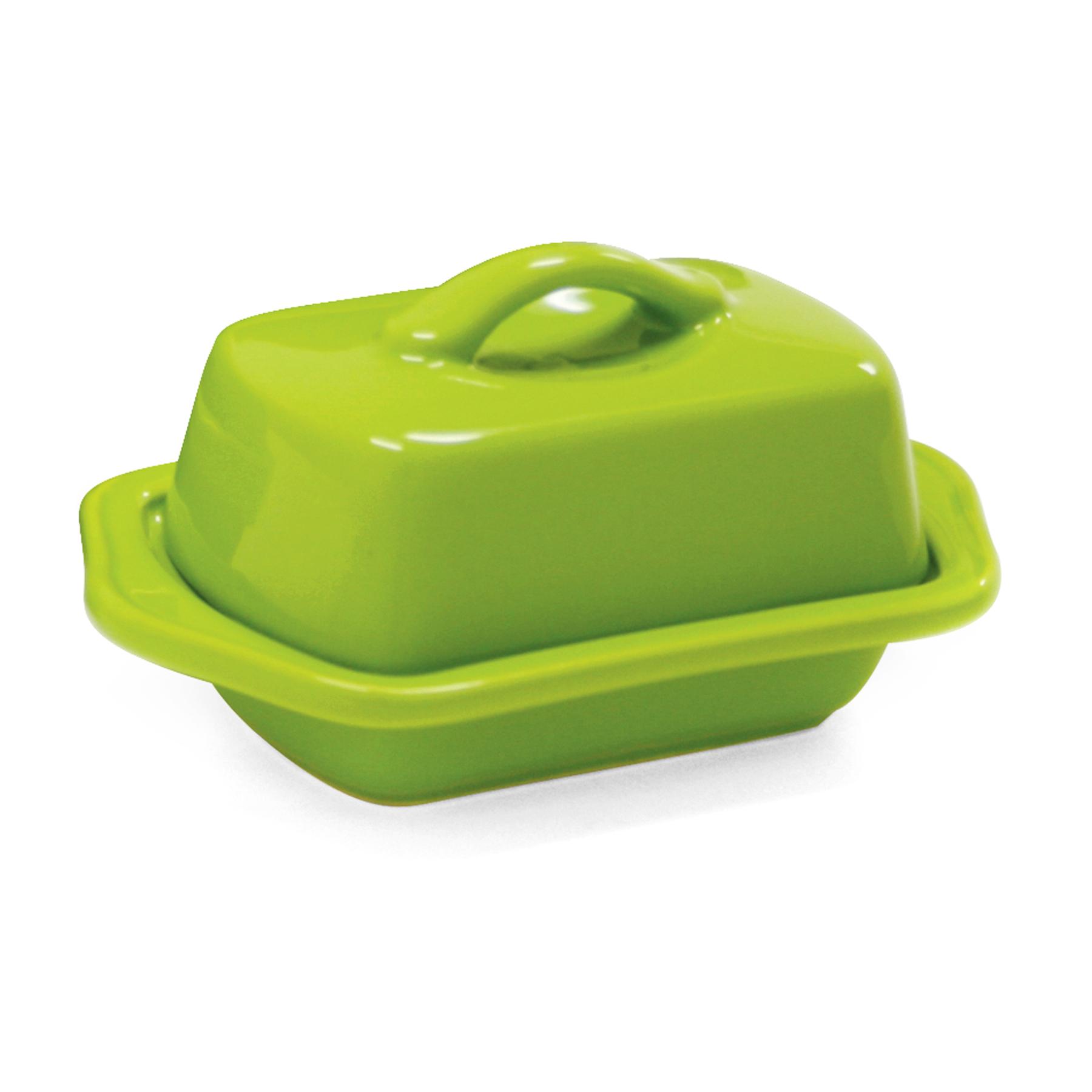 Chantal Lime Green Stoneware Mini 5 Inch Butter Dish