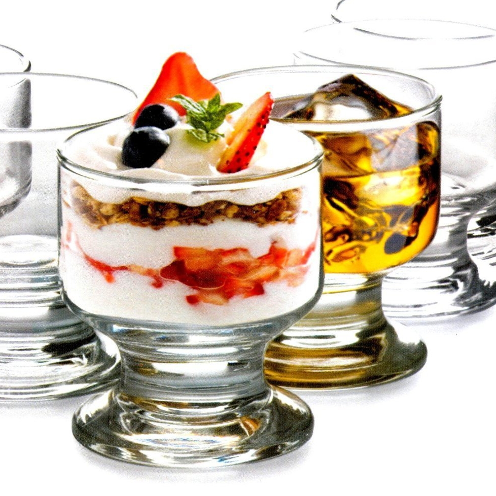 Circleware 3.5 Ounce Footed Dessert Glass, Set of 6