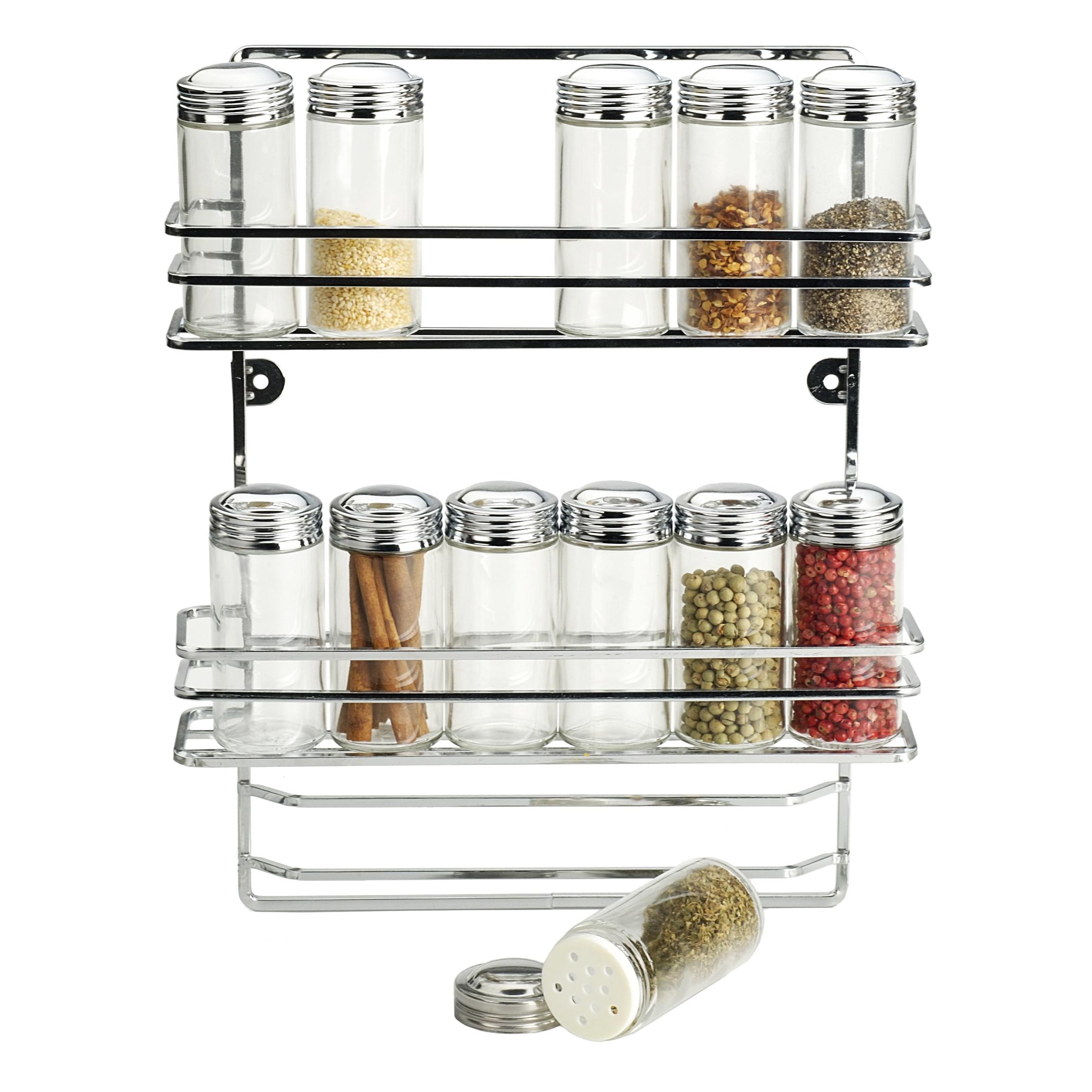 RSVP Chromed Wire Hanging Spice Rack Set