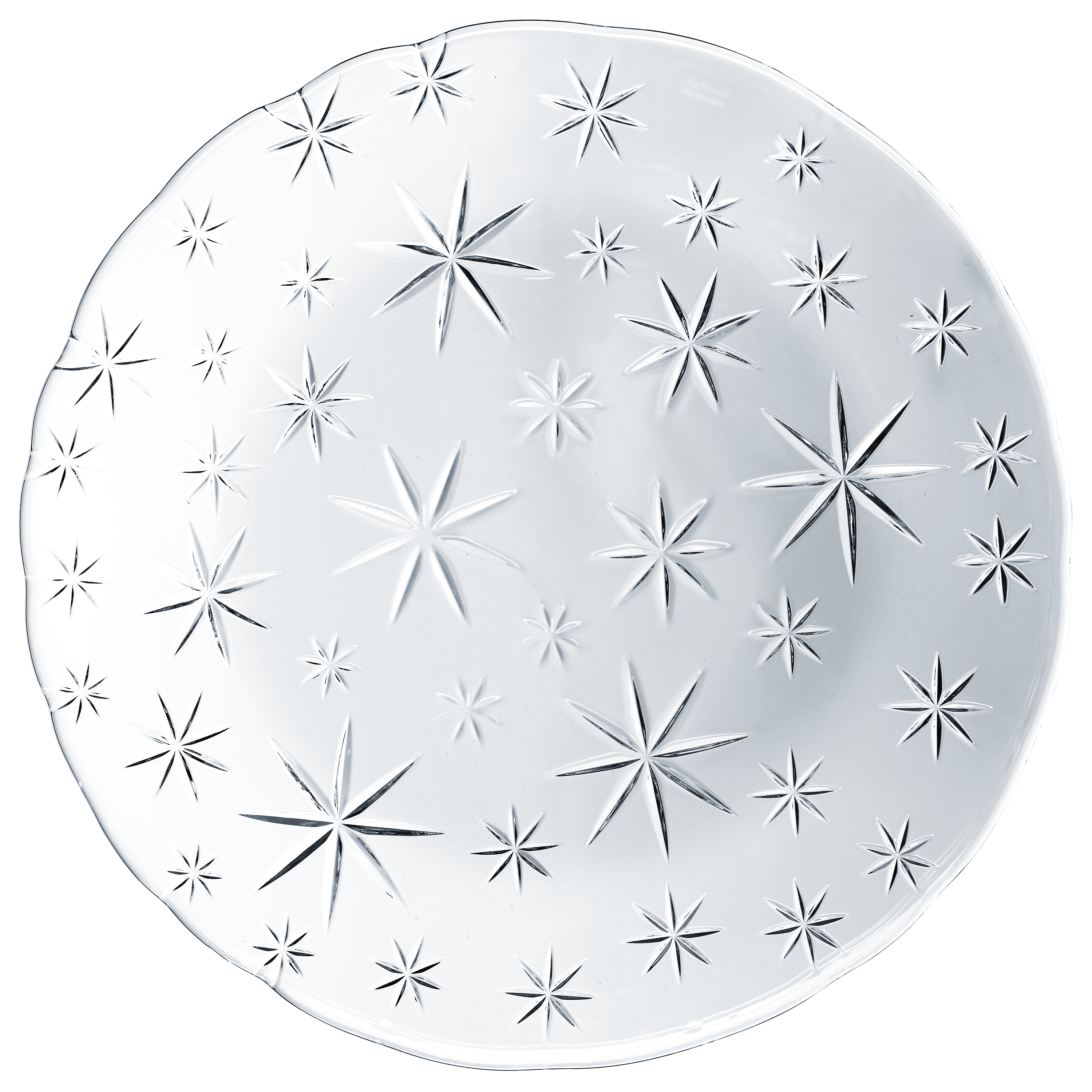 Nachtmann Stars Crystal 12.5 Inch Charger Plate, Set of 2