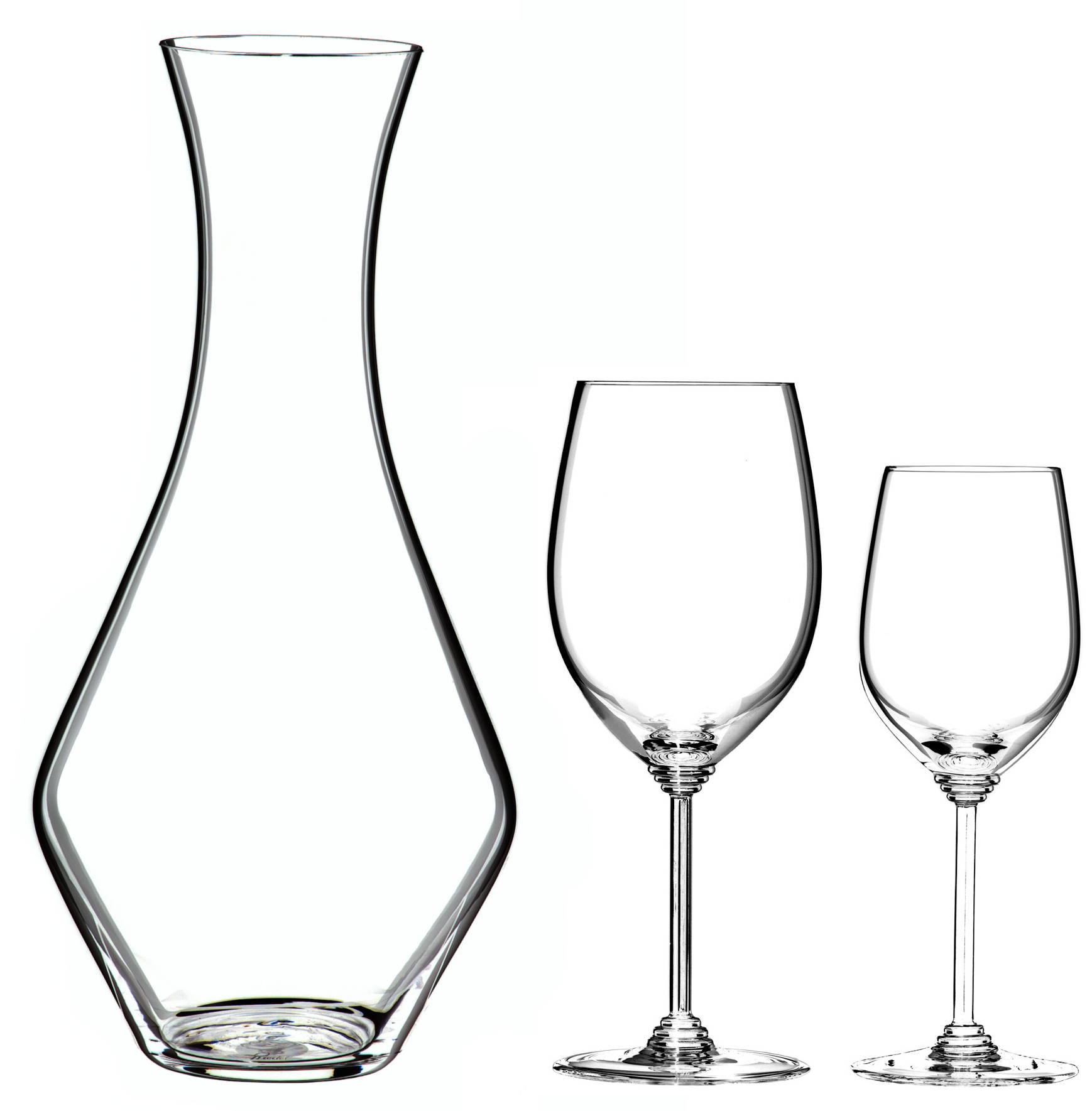 Riedel Wine Series 5 Piece Cabernet and Chardonnay Wine Glass Gift Set With Merlot Decanter