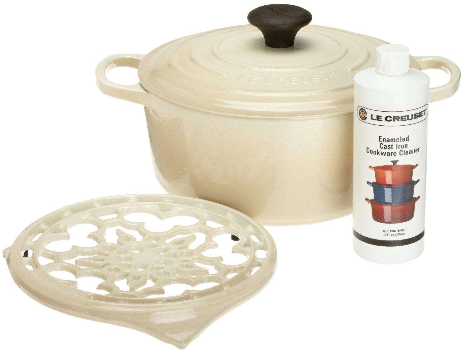 Le Creuset 4 Piece Dune Cast Iron Cookware Gift Set