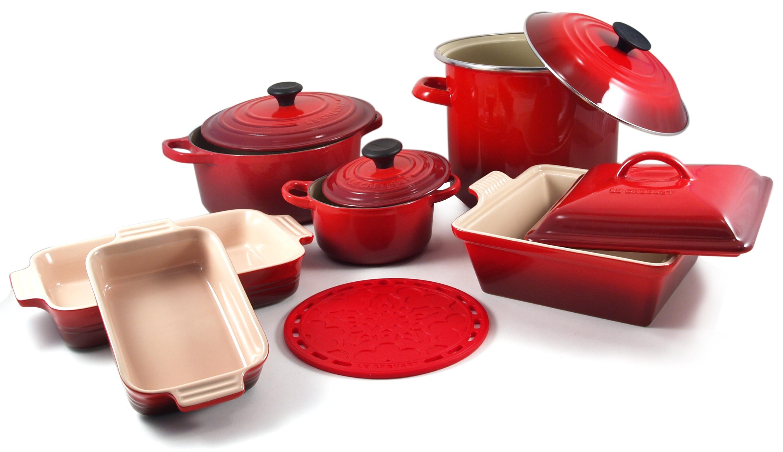Le Creuset BIGKitchen Signature 10 Piece Cherry Cookware Set