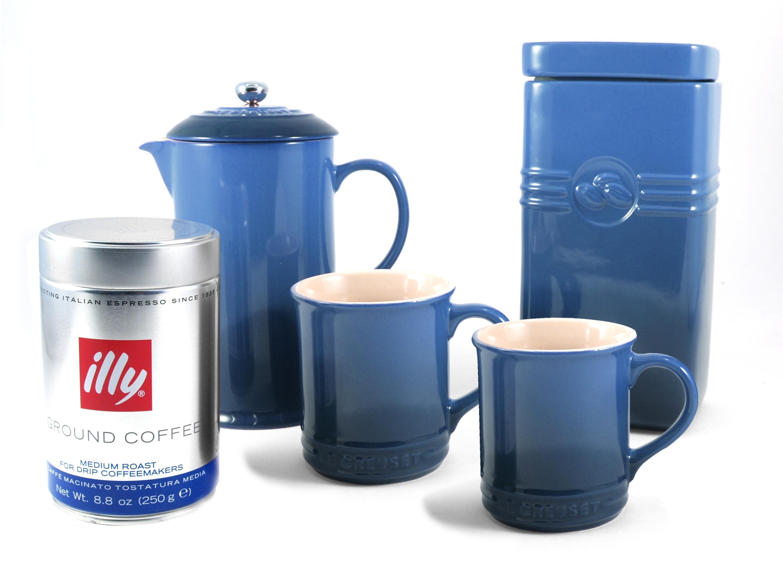 Le Creuset Marseille Blue Stoneware Coffee Set