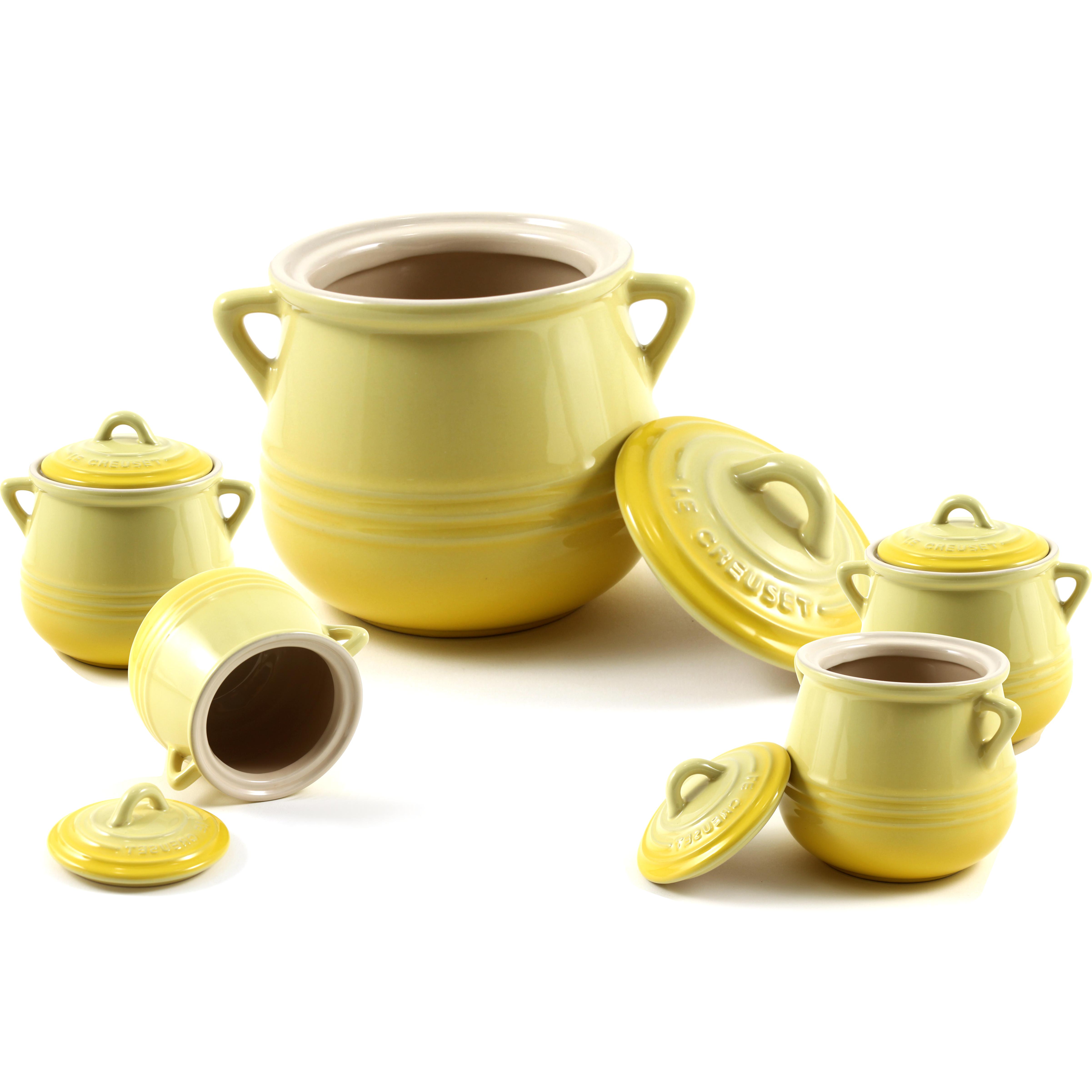 Le Creuset Heritage Soleil Stoneware 5 Piece Bean Pot Set