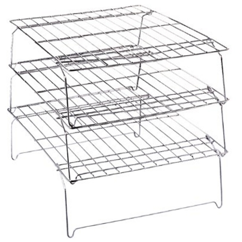 Wilton Nickel Plated 3 Piece Stackable Wire Cooling Rack Set