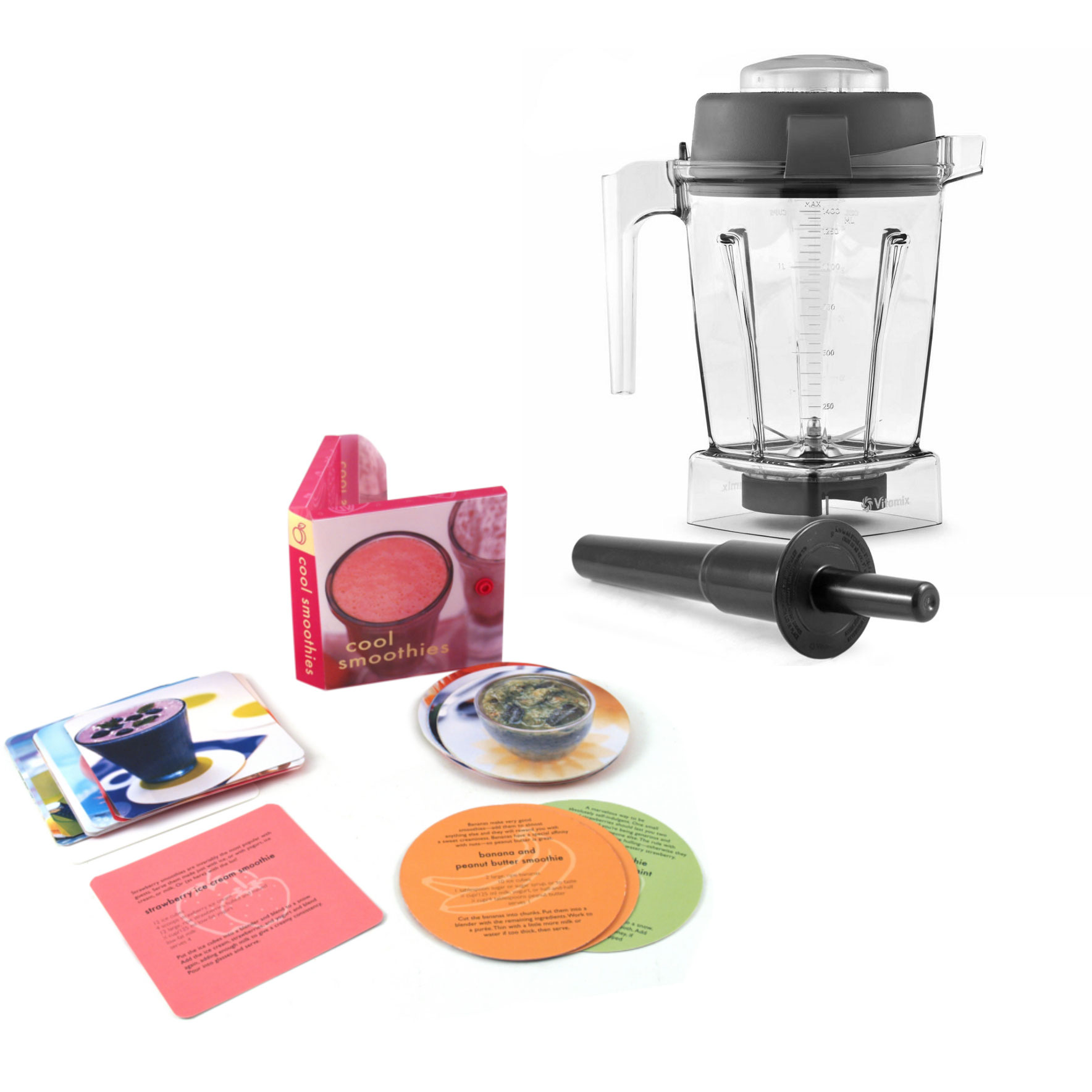 Vitamix Wet Blade 48 Ounce Blender Container with Free Smoothie Recipe Book