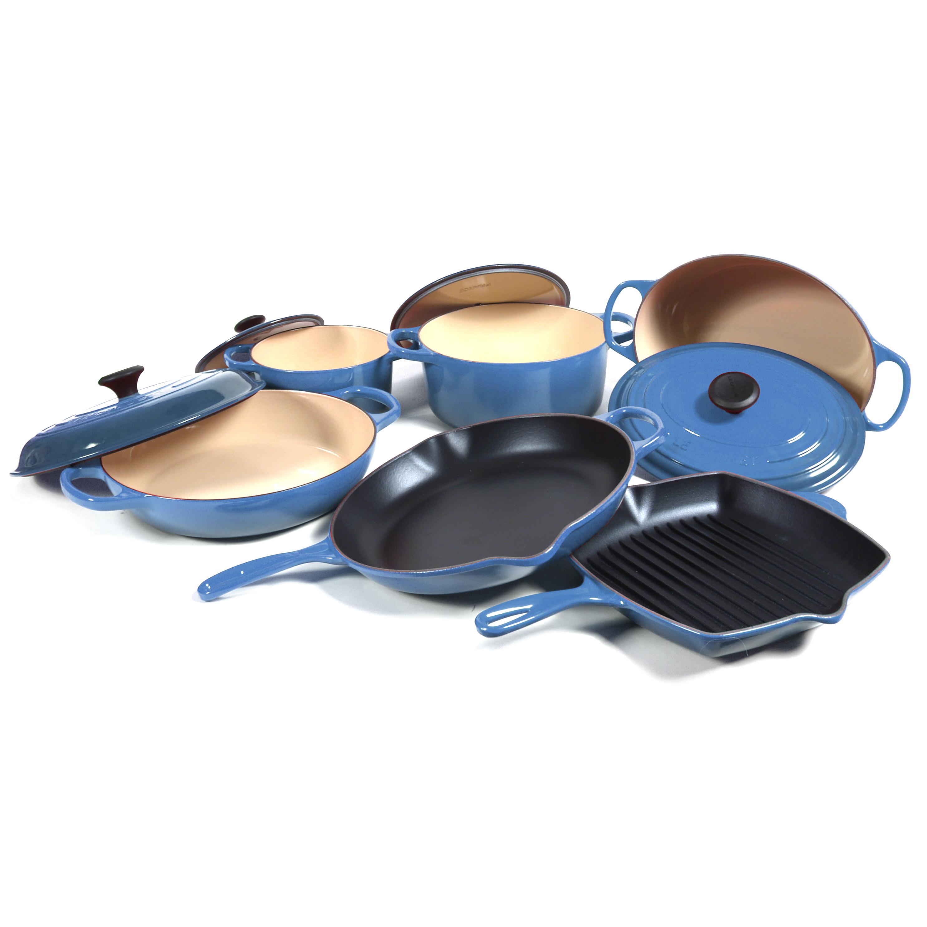 Le Creuset Signature 10 Piece Marsielle Enameled Cast Iron Cookware Set