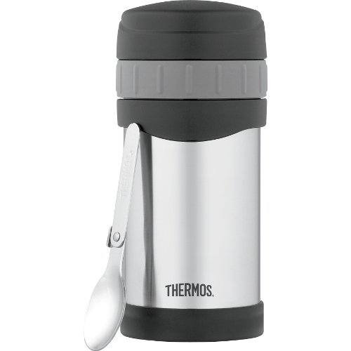 Thermos Stainless Steel Food Jar with Folding Spoon, 16 Ounce