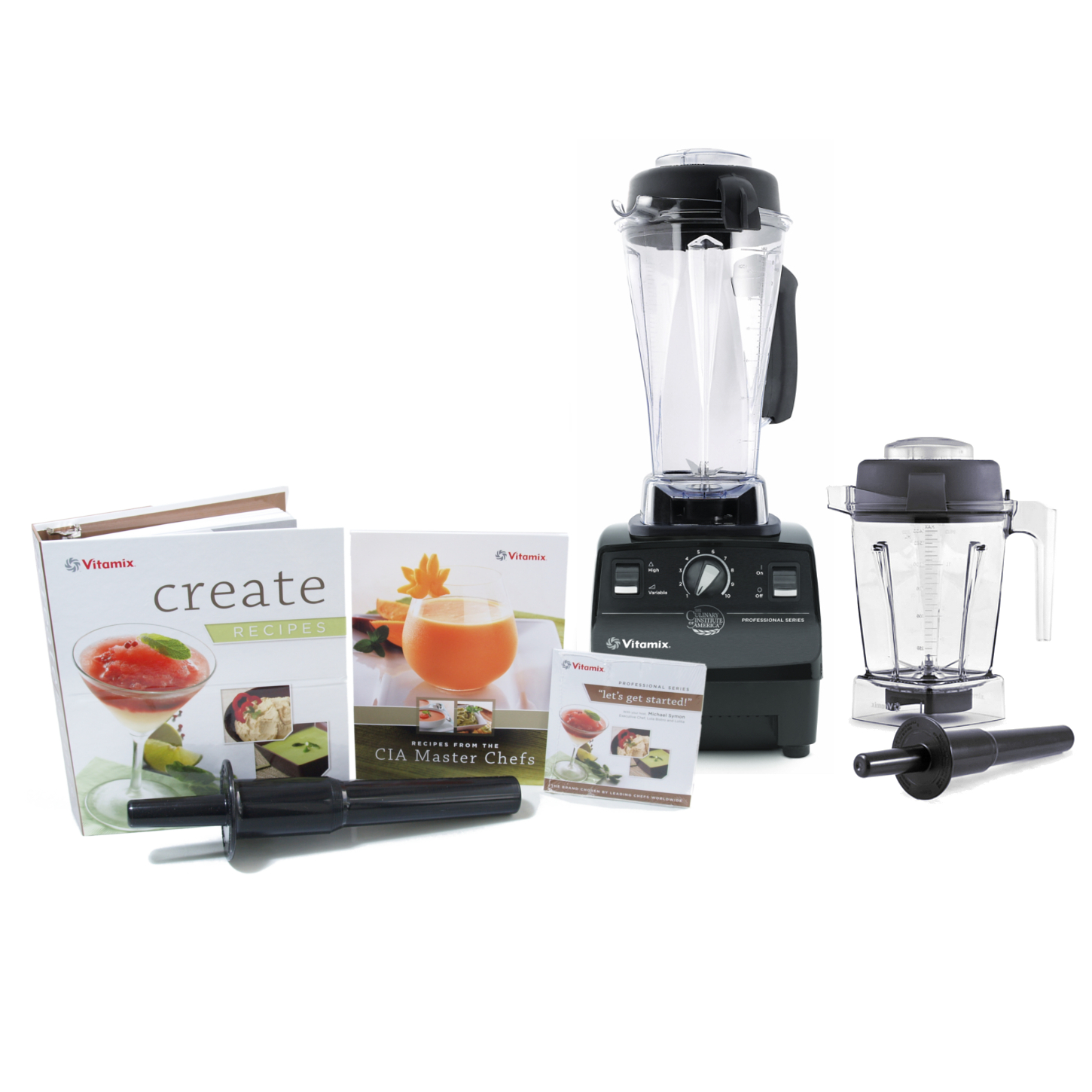 Vitamix CIA Professional Series Black Blender With 64 Ounce Wet Container and 48 Ounce Wet Container
