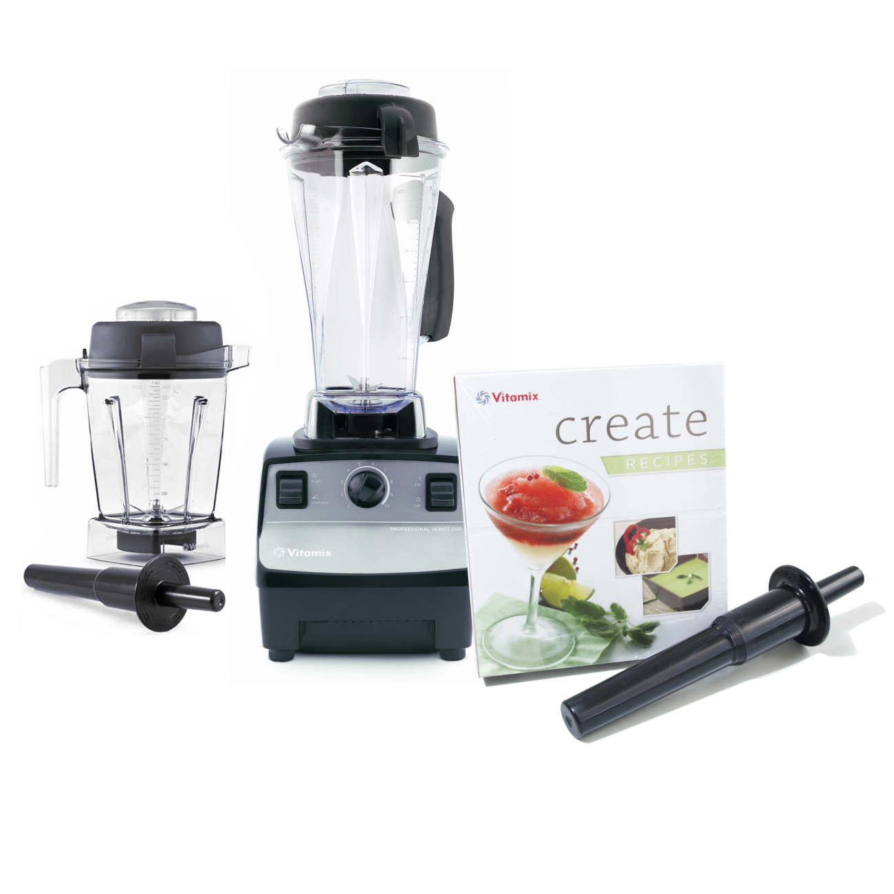 Vitamix Professional Series 200 Onyx Blender With 64 Ounce Wet Container and 48 Ounce Wet Container