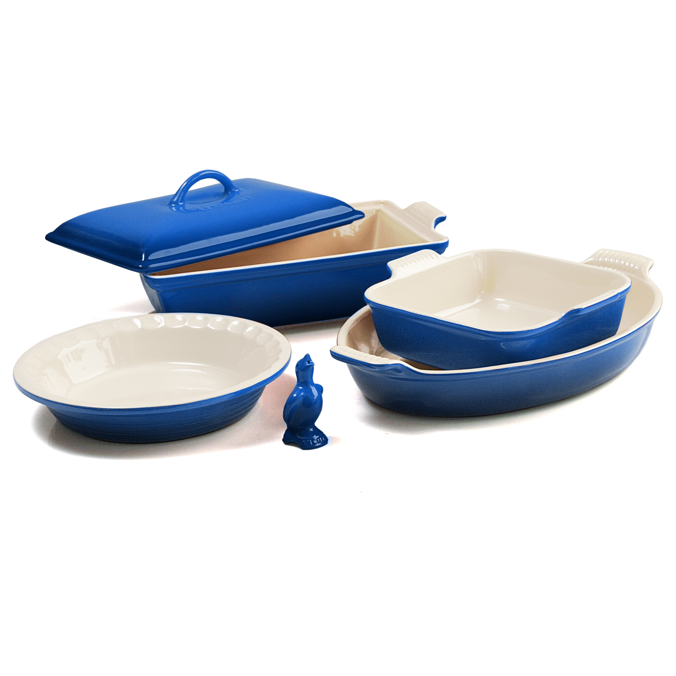 Le Creuset 6 Piece Marseille Blue Stoneware Heritage Bakeware Set