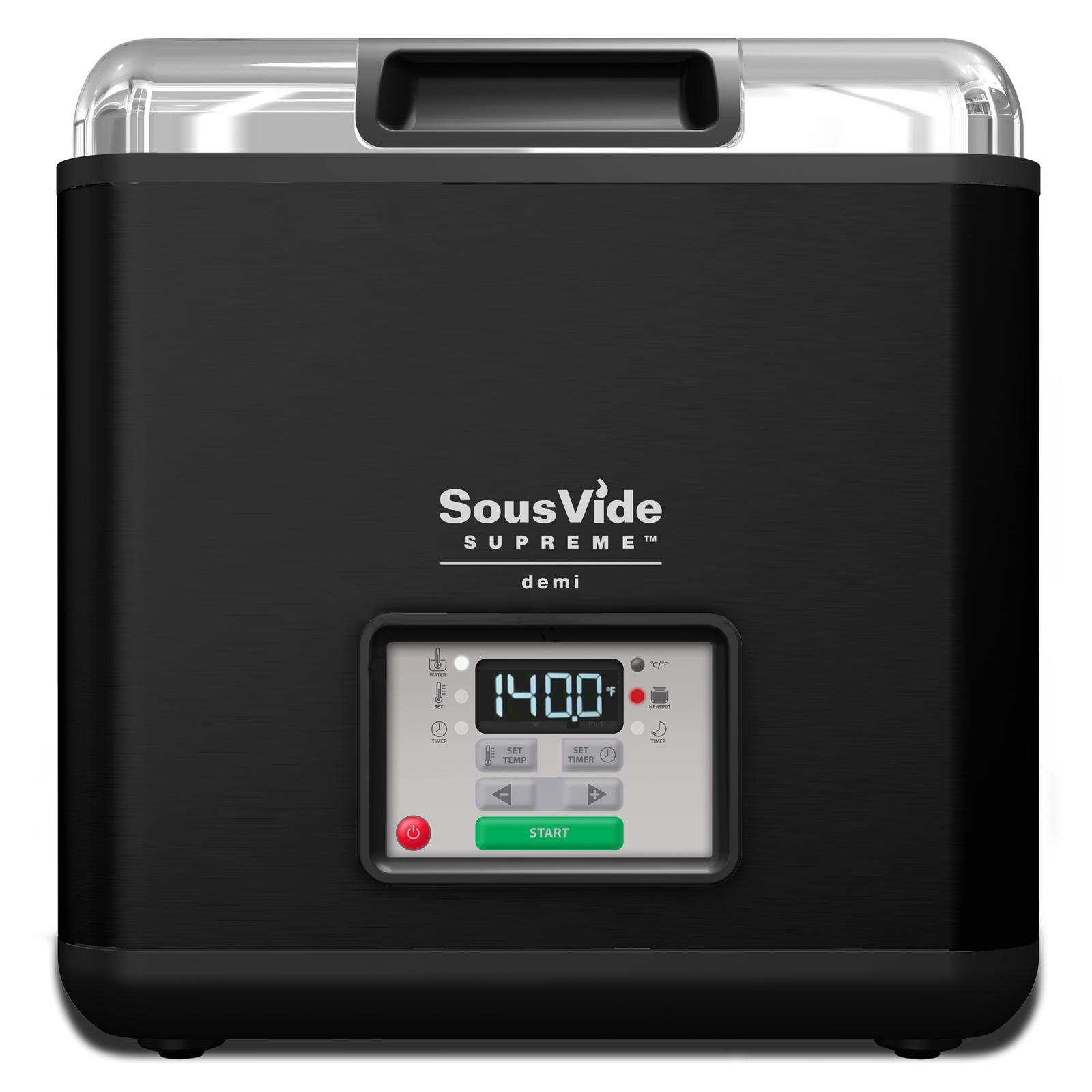 SousVide Supreme Demi Black 9 Liter Water Oven System Complete Set