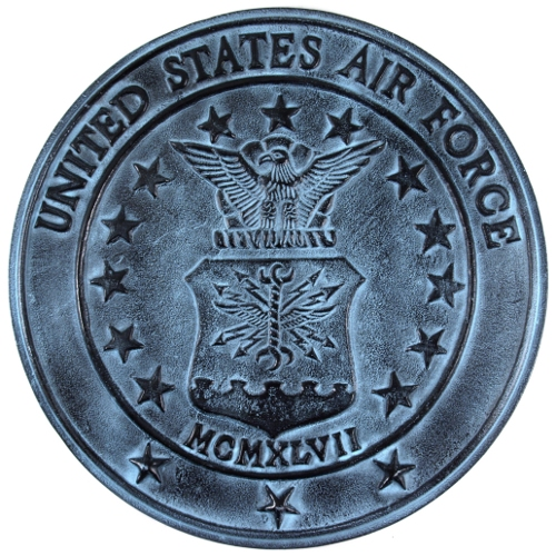 USA Military Air Force Heavy Aluminum Wall Plaque