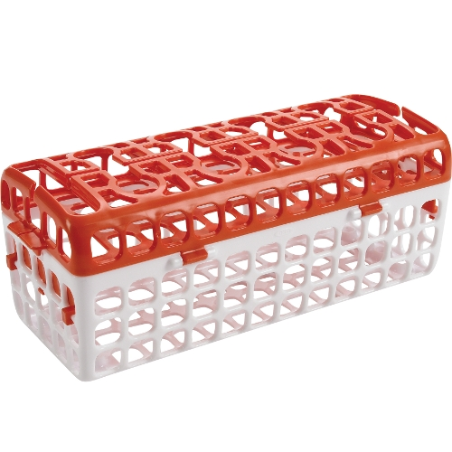 OXO Tot Orange and White Dishwasher Basket