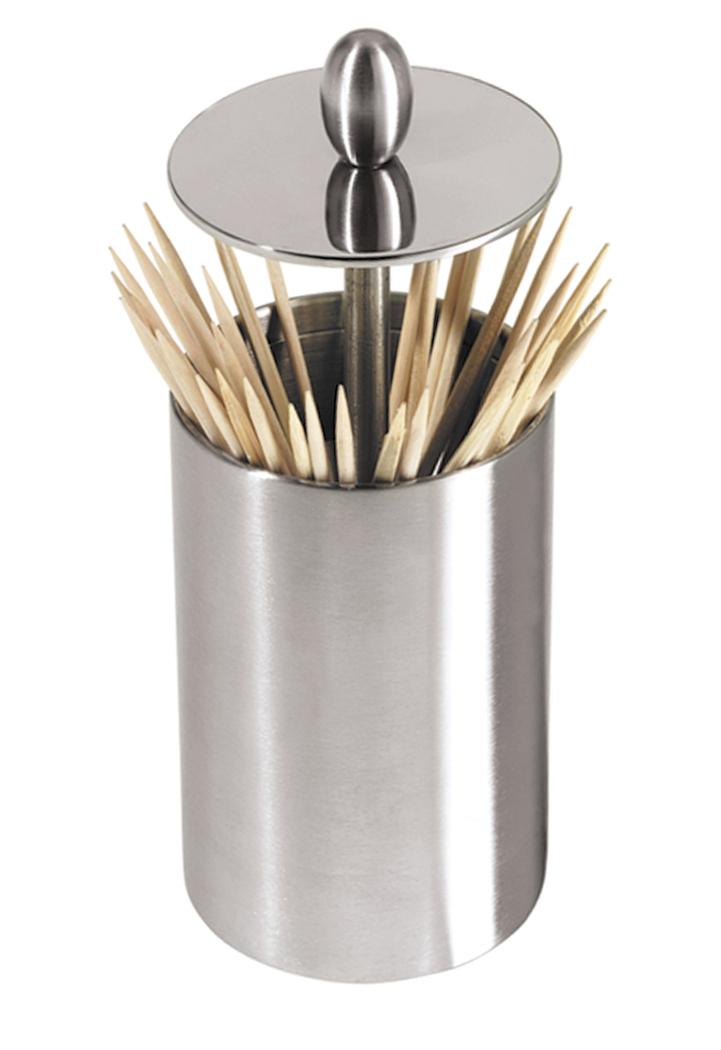 Oggi Stainless Steel Retractable Toothpick Holder