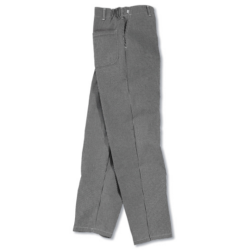 Chef's Culinary Uniform Black & White Twill Pants XL