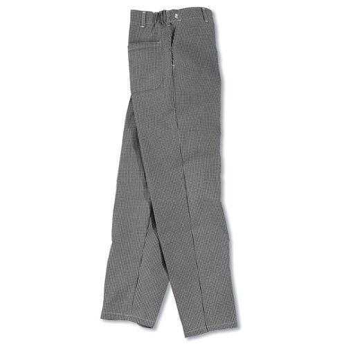 Chef's Culinary Uniform Black & White Twill Pants XL