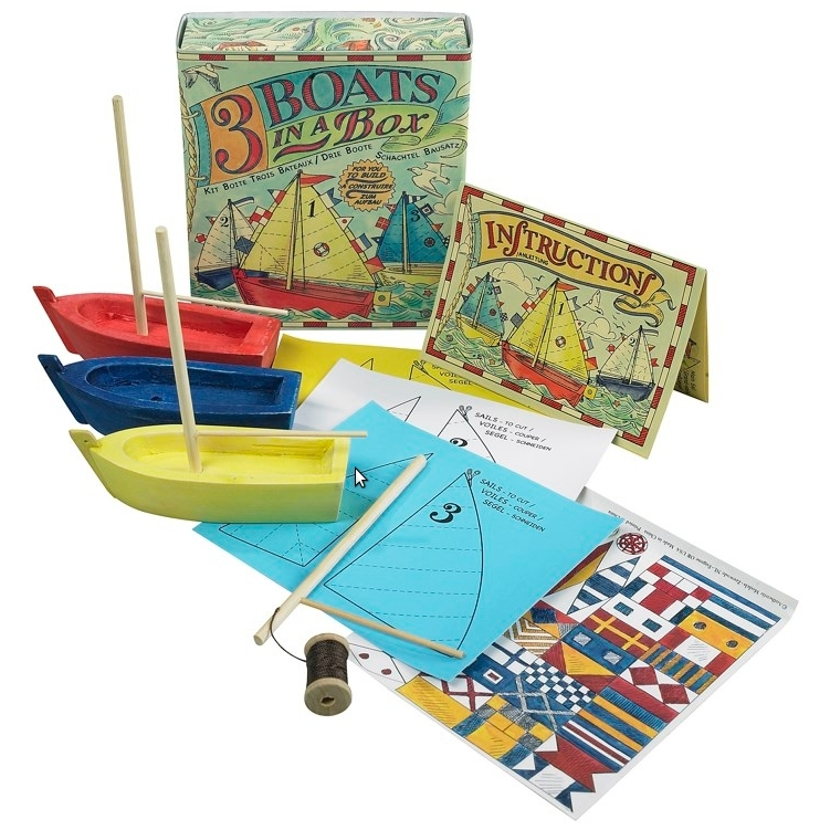Authentic Models Three Boats In A Box Kit